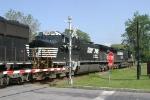 NS Coal train moving through Ithaca NY