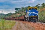 PRLX 8080 atuando no auxílio de Cauda ,na Ferrovia do AÇO.
