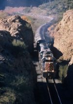 Copper Basin Railway OT-1 approaches tunnel 3