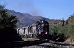 Copper Basin Railway ore empties approach the mine