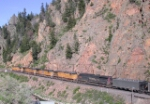 Snaking through Byers Canyon