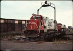 Soo Line GP38-2 #4445 Marquette MI 10-3-1986 HE Brouse Photo