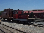 Pulling the lone caboose