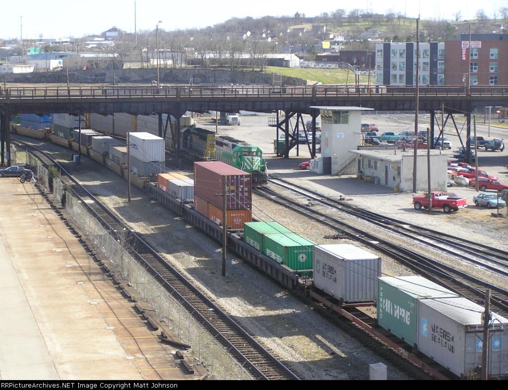 Intermodal Train Passing Through Kayne Yard