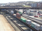 Intermodal Train Passing Through Kayne Yard