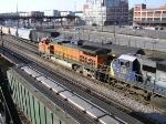 BNSF C44-9W Leading A CSX Freight