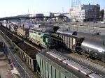 A FURX SD40-2 Leads a Freight Train Through Kayne Yard