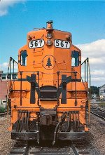 The nose of Maine Central GP7 567
