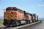 Westbound intermodal crawls upgrade