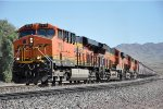 Westbound grain train climbs the grade