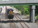 CSX 7009 under the overpass