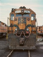 The nose of Maine Central GP38 262