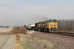 UP 7207 & 7992 lead a general freight south on the Villa Grove Sub