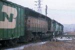 SD45 #6510 + SD40 #6336 + SD45 #6465 going, leading e/b BN train