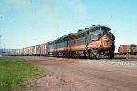 w/b BN train led by F7A #738 + F7B #761 + F7A #746