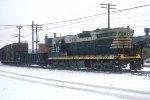 C&S SD9 #823 leading s/b train