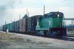 e/b BN train led by C&S SD9 #829