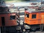 CSS&SB boxcab motors #707 + #704