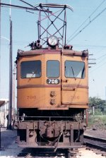 Front of CSS&SB boxcab motor #706 at Bendix Station