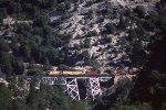 UP 2474 West with a Big Jack in the Feather River Canyon