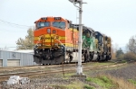 BNSF 739 with colorful lash-up.