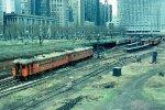e/b CSS&SB train led by combine #101 departing Randolph Street Station