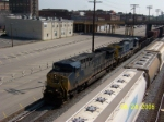 Dirty CSX engine 88 leads southbound freight