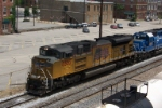 Dirty SD70AC leads CSX train Q681 south