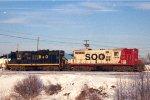 GP9s B&O #5939 + SOO #2406 on SOO Line
