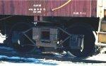 Truck of SOO Line wood caboose #229