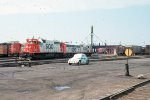 SD40 #748 + others at roundhouse