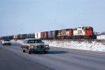 e/b SOO train led by SD40-2 #758 + SD40 #751