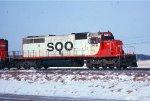 SOO SD40-2 #758 leasing e/b train
