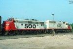 SOO SD40-2 #777 + F7A #213B