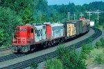 w/b Soo Line train led by GP9 # 552 + FP7 #505