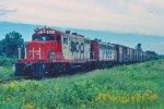 e/b SOO train led by GP9 #2411 + F7A #2201A,