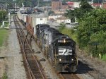 NS Train 213 rolls though town