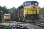 Coal train prepares to leave
