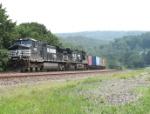 NS 9481 leads a fast intermodal