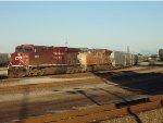 CP 8814/UP 2679 facing W/B in the Port Coquitlam Yard