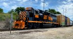 AB 4005 comes out of Brittain Yard with cars for Barberton now.