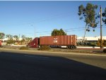 ZIM Container #850968 Drives From tye Port at Carson