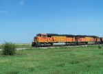 BNSF 9483 Leads Empties Across the Plains