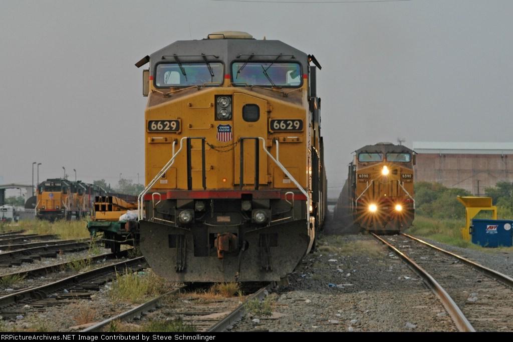 UP train at the yard