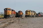 Two BNSF northbounds and a switching job at the yard