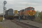 BNSF and KCS trains