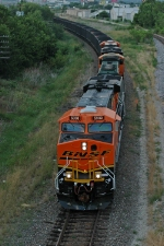 BNSF 5980 South at the Allen Avenue overpass