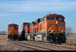 BNSF 7621 East meets an empty coal train at Hermann