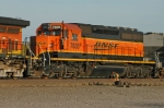 BNSF 7835 at the north end of the yard