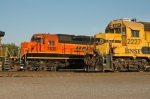 BNSF locomotives at the north end of the yard